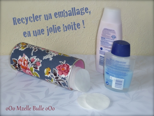 Mzelle Bulle, oOo, Marie Claire Idées, MCI, recycler, recyclage, recycling, boîte, emballage, dit, tuto, tissu, carton, canson, rangement, bristol,